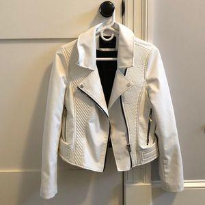 White Blank NYC leather jacket